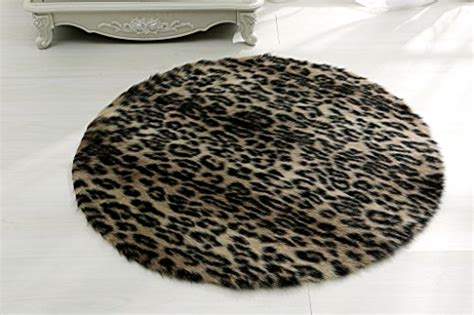 Faux Leopard Rug by Rugmall Faux Fur Shaggy Rug 3 3 Inch Leopard