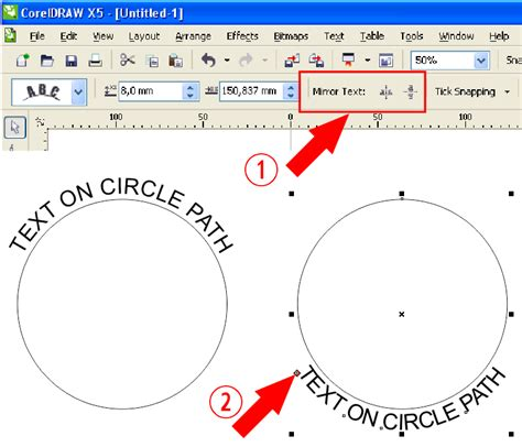 How To Curve Text In Coreldraw X5 | fitting text to path coreldraw x5 coreldraw graphics