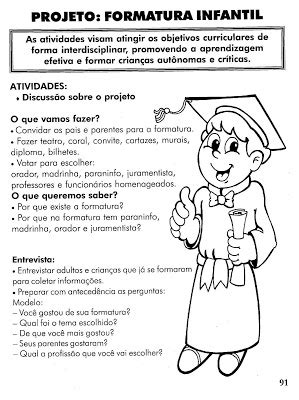 Espaço da Criança : Guia para Formatura na Educação Infantil