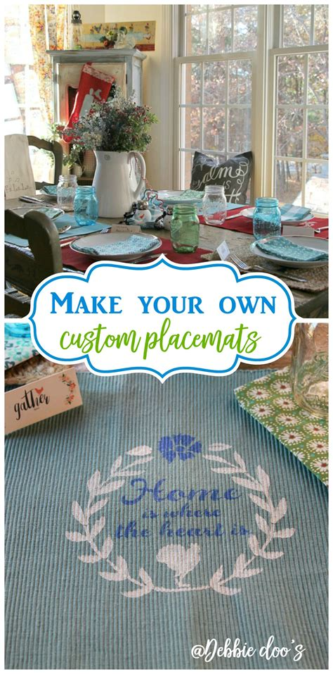 How To Make Your Own Matting For Picture Frames by Diy Placemats For Your Kitchen Debbiedoos