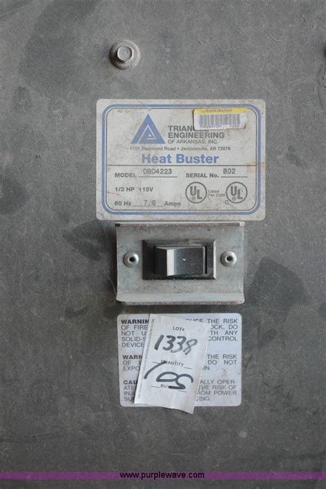 shop fans for sale dbd heat buster shop fan item l9957 sold wednesday