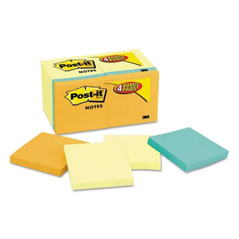 Paper Ink Stick Label Post Its Memo Tempel Kecil post it notes original pads value pack 3 x 3 canary yellow cape town 100 sheet 18 pads