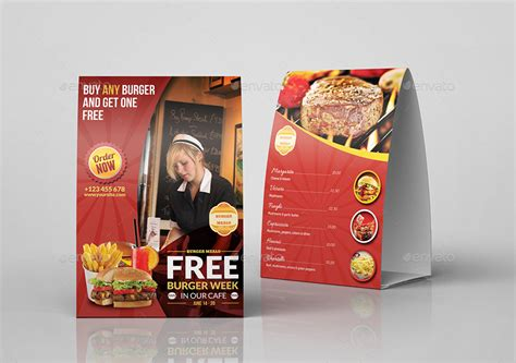 table ads for restaurants restaurant and cafe table tent template vol8 by owpictures