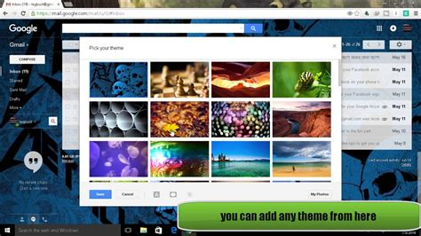 how to change your gmail background how to change your gmail theme background image