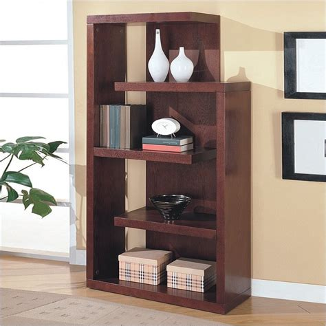 cappuccino semi backless bookcase 800256