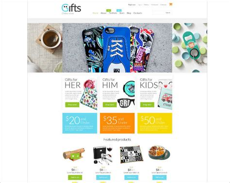 website templates for gift shop php ecommerce website templates free premium