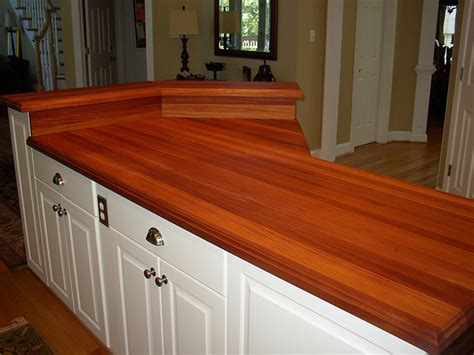 Kitchen Design Ideas With Island african mahogany edge grain countertops southside woodshop