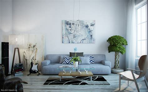 Grey N White Living Room Design Decosee Com Grey White Living Room