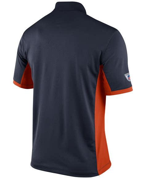 nike s chicago bears team issue polo in blue for
