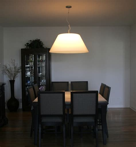 modern pendant lighting for dining room dining room interior design with big shade ceiling by cp