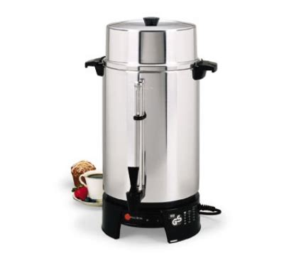 Coffee Maker 100 Cup focus 58010v 100 cup coffee maker w aluminum finish