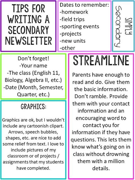 best 25 school newsletter template ideas on pinterest