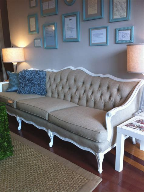 reupholstered couch big events wedding new sofa available to rent