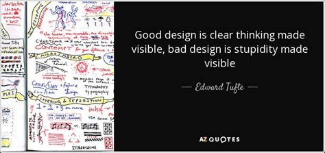 design is thinking made visible edward tufte quote good design is clear thinking made