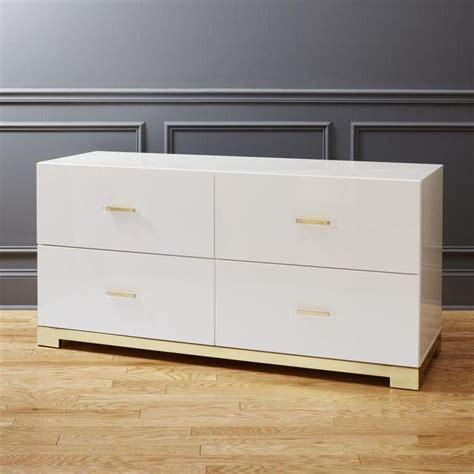 glossy white dresser odessa low white gloss dresser