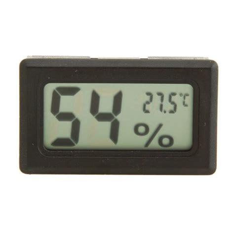 Mini Lcd Digital Thermometer Hygrometer Black 1 sumnacon 174 2 in 1 mini lcd digital temperature humidity meter thermometer hygrometer for