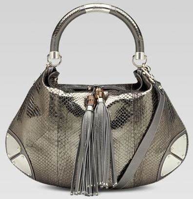 Gucci Gunmetal Indy Large Top Handle Bag eyeblinkfashion fashion and brains in a blink
