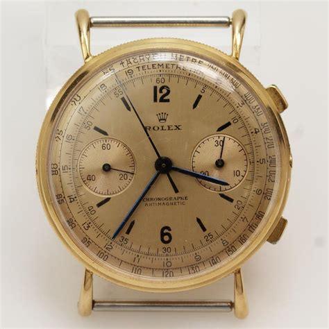 Jam Tangan Rolex Gold Crono s vintage rolex 18kt gold chronograph with