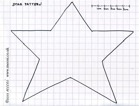 free primitive star template paper pricking free