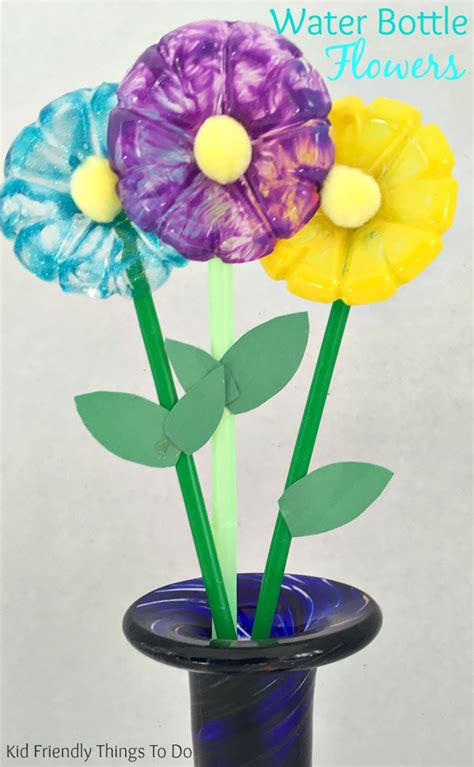 crafts flower water bottle flowers craft for kid friendly things