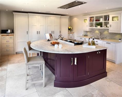 curved kitchen island houzz