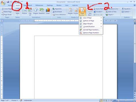 memberi nomor halaman word layla innocent memberi nomor halaman pada word 2007