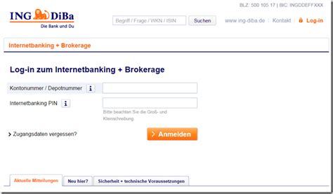 bank of scotland login tagesgeld ingdiba onlinebanking comdirect geldautomatensuche