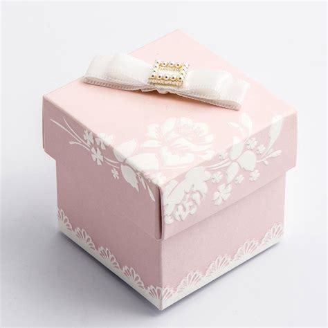Square Shabby Chic by 10 Pink Shabby Chic Square Favour Box Favour