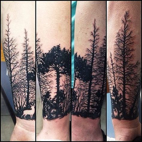 tattoo on arm forest forest tattoo google search tattoos pinterest
