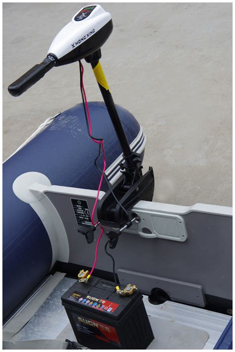 hx inflatable boat dc battery electric trolling motor - Inflatable Boat Motor Battery