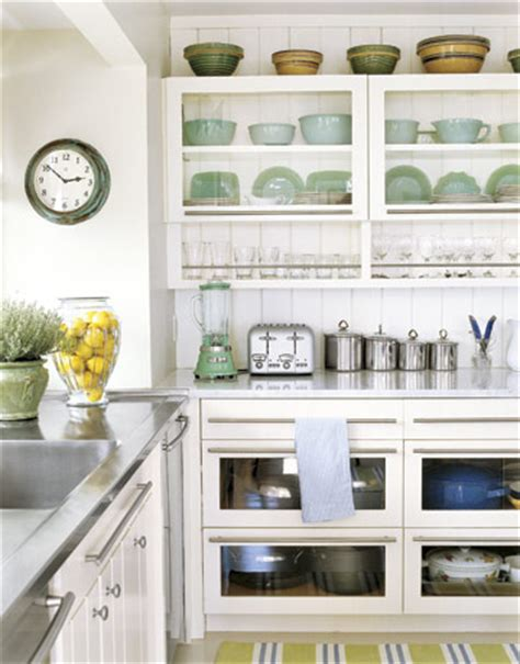 open kitchen cabinet how to open shelving in your kitchen without daily