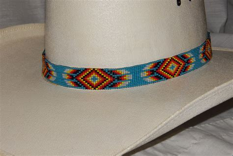beaded hat band patterns beaded hat band by forrestruby on etsy