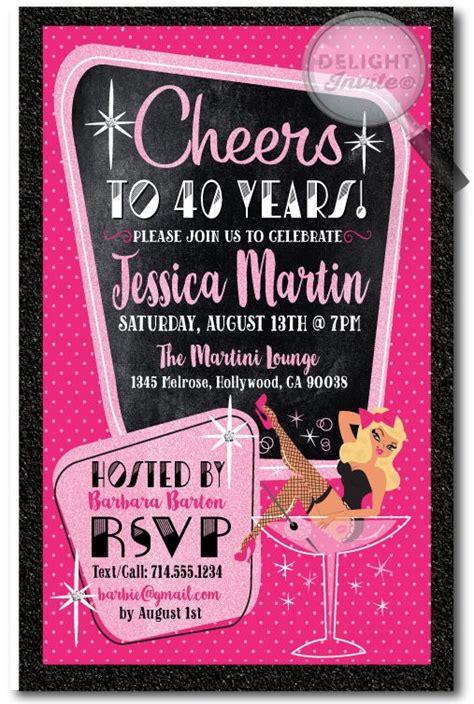Invitation Card For 40th Birthday