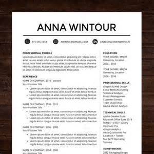 Professional Resume Design Templates by Modern Resume Template Cv Template For Word Mac Or Pc