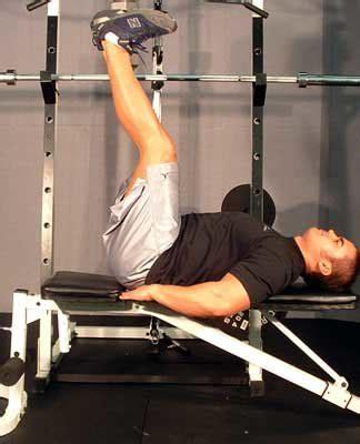 flat bench leg raises ab exercises weight training abdominal exercises