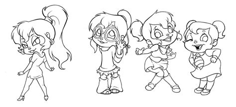 coloring pages of the chipettes az coloring pages