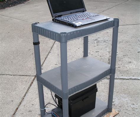 Inexpensive Desks With Storage Cheap Portable Standing Desk With Storage In Gray