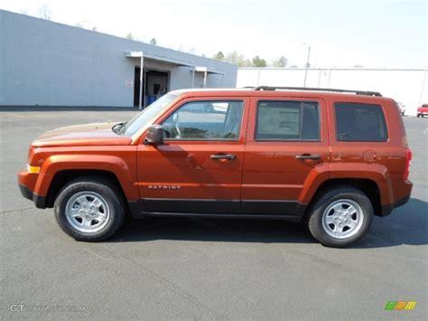 orange jeep patriot copperhead orange pearl 2012 jeep patriot sport exterior