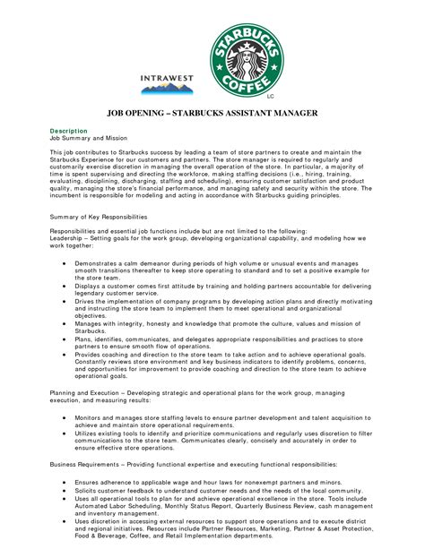 resume templates for a barista starbucks barista job description for resume resume ideas
