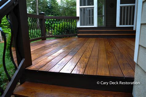 ipe deck staining raleigh nc project  cdr