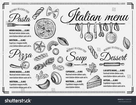 Italian Menu Placemat Food Restaurant Brochure Stock Vector 515989336 Shutterstock Placemat Menu Templates