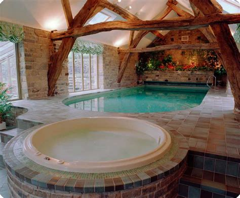 awesome indoor pools indoor pools and jacuzi with block wall decor interior