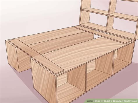 how to make a bed frame out of pallets 3 ways to build a wooden bed frame wikihow