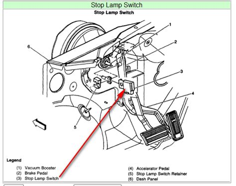 parking brake switch located on a 2003 chevy 3500 silverado