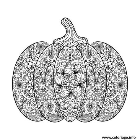 detailed pumpkin coloring pages coloriage halloween adulte difficile citrouille fleurs dessin