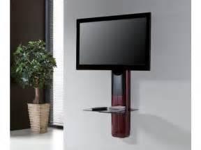 support tv mural avec tablette support mural tv candela mdf acier 3 coloris
