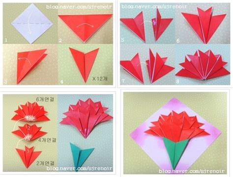 How To Make Paper Carnations - origami and carnation flower image on we it