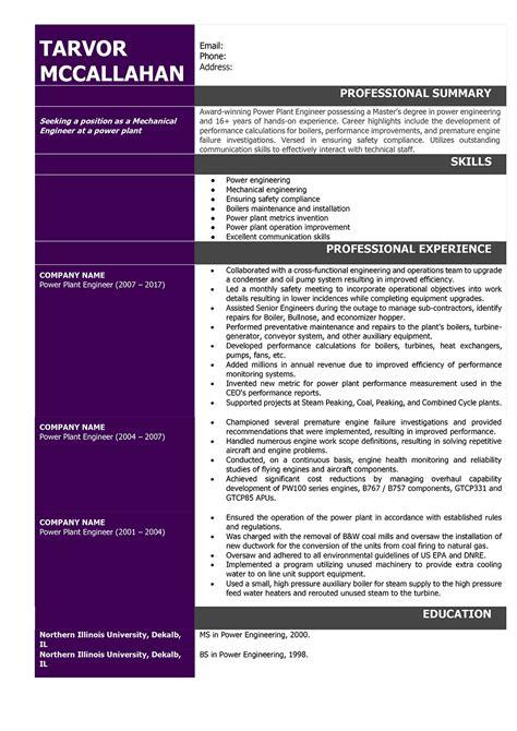 resume format for mechanical resume template easy http