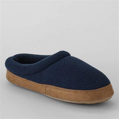 lands end boys slippers lands end blue fleece clog slippers octer 163 11 05