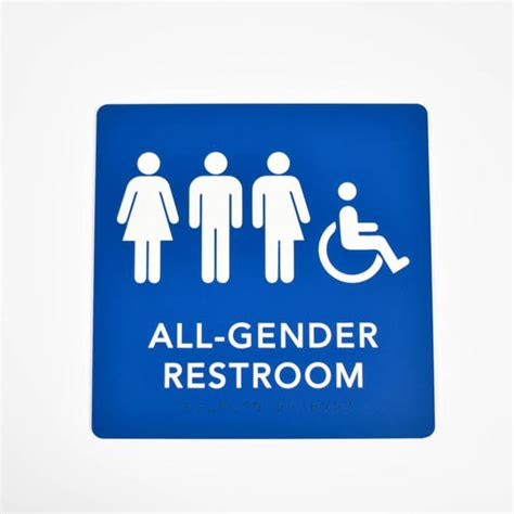 bathroom signages ada braille gender neutral restroom signs braille